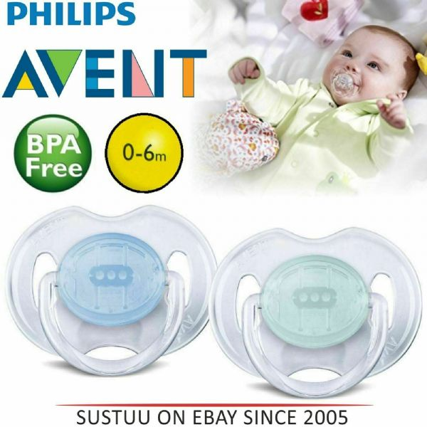 Philips Avent SCF170/18 2-Pack Translucent Orthodontic Soother 0-6m - Blue